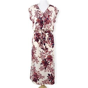 Sienna Sky Floral Print Cap Sleeve Tea Dress
